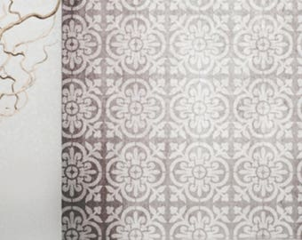 VALENCIA Tile Stencil - Mediterranean Spanish Moorish Wall Furniture Floor Craft Stencil - VALE01