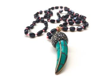 Statement Luxurius Fashion Mala Rosario Necklace