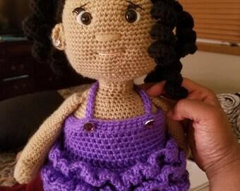 Ruffle Dress and Shoes Pattern for Jenna Doll Crochet Amigurumi