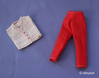 Vintage (Barbie) Skipper and Skooter 2 Piece Ensemble, Near Mint, Handmade/Mommy-made