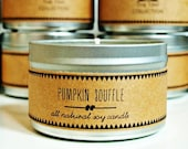 PUMPKIN SOUFFLE Soy Candle. Natural Candle. Scented Candle. Eco Friendly. Vegan Friendly. Fall Candle. Gift for Her.