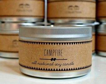 CAMPFIRE // Soy Candle. Natural Candle. Scented Candle. Eco Friendly. Vegan Friendly. Gift for Him.