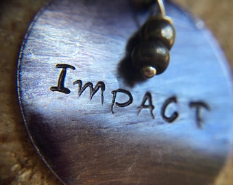 My Intent Hand Stamped Personalized, What's Your Word, My Intent Jewelry
