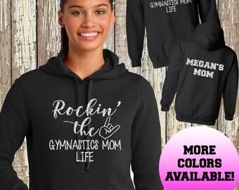 Rockin the Gymnastics Mom Life Hoodie