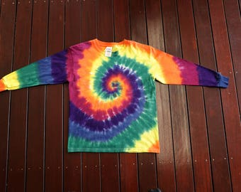 Kid's M Tie Dye Long Sleeve T Shirt