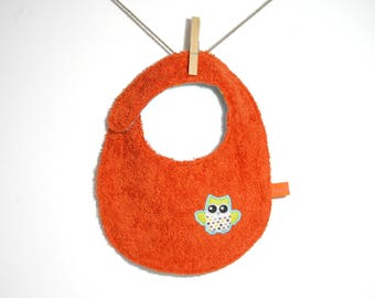 "Orange ""OWL"", reversible bib"