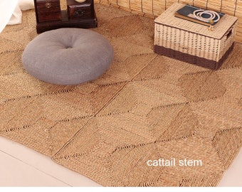 Carpet room, bedroom ,Tea table ,balcony, edge of the bed,  customized , tatami mat , grass weave mat, cattail , corn husk mat