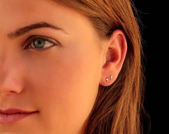 SALE15% Tiny gold earrings, small silver earrings,Small  black earrings, tiny post earring, small stud, tiny stud earrings, dainty gold