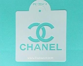 CC Stencil, LV Stencil, Brand Designer Stencil, Fashion Logo Stencil, Fashion Brand Stencil, Cake Decorating Stencil, Brand Logo Stencil