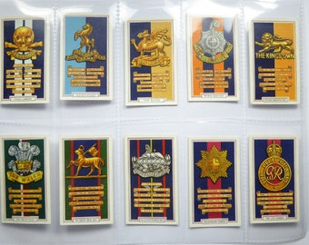 Gallaher Ltd Cigarette cards - Army badges - full set of 48 cards