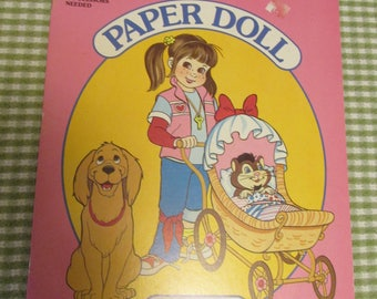 Punky Brewster Golden Book Paper Doll TV Show Doll Paperdoll Uncut 1986