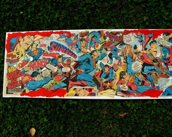 """SUPERMAN: the battle of the century"" COLLAGE COMICS comic book from the 70s"