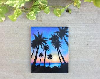Sunset Palms - Original Acrylic Painting