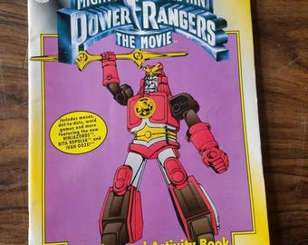 Vintage Power Rangers Coloring And Activity Book. Mighty Morphin Power Rangers The Movie Action Figure Toys For Kids