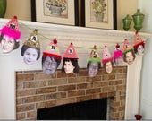 Jjessicaslmftlmhc/Custom Birthday Face/Hat Party Banner, LARGE FORMAT