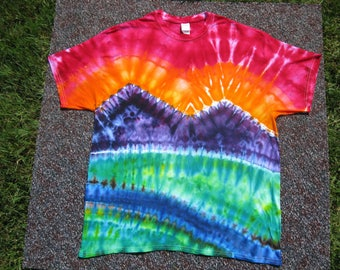 Art shirt, tie dye t shirt, rainbow shirt, river, earth day