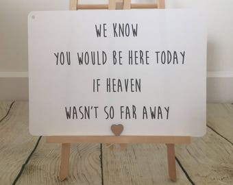 Rustic Heart Heaven Wedding Sign