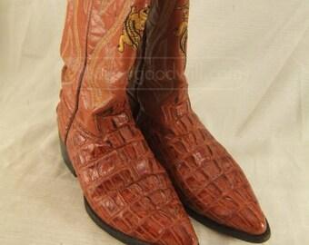 Alligator Boots men's Size 9.5D like new Donaldo Alligator Cowboy Boots