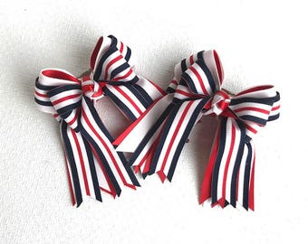 SHORTY 3X3 Horse Show Hair  Bows/patriotic hair accessory