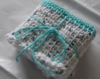1 Set of 2 Dishclothes / Washclothes, A Nice Gift Set for Housewarming, Bridal Shower or Hostess Gift / Practical and Nice / Cotton