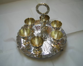 Superb Elkington 6 Setting Silver Plated EGG CUP STAND 1892