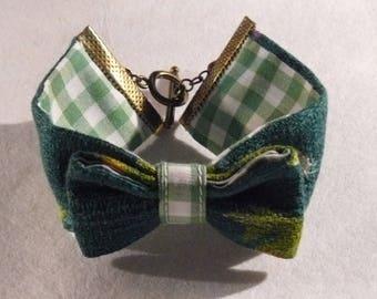 vintage sixties fabric bracelet