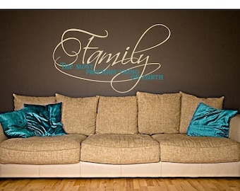 20% OFF Summer Sale Most Precious family wall decal, deco, sticker, mural, vinyl wall art