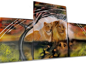 Lion and lioness animal picture