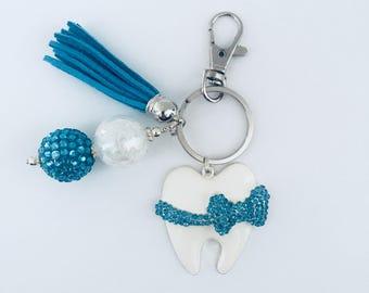 Tooth Key Chain, Dental Hygienist Key Chain, Dentist Key Chain, Dental Assistant Key Chain, Dental Gift, Teeth, Dental School, Graduation