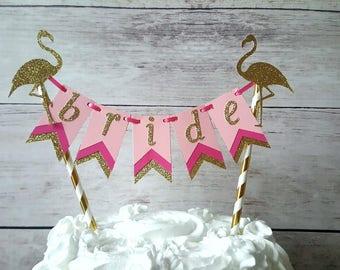 Bridal Shower Cake Topper, Let's Flamingle, Flamingo Bridal Shower Decorations, Flamingo Party Decorations, Flamingo Bachelorette Party