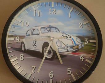 clock wall decoration car beetle vintage