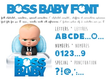 Boss Baby font - real ttf to install - compatible PC and Mac - instant download