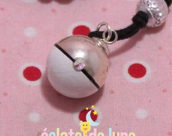 Pregnancy's Bola Bulan bola Xylophone bicolor white silver with swarovski rhinestones