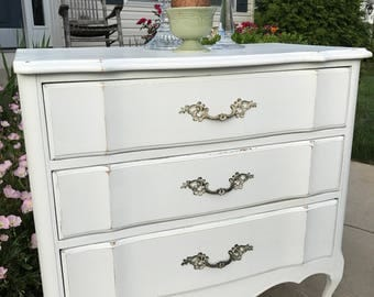 French Antique White Night Stands