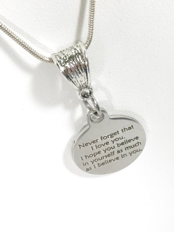 I Believe In You Necklace, Daughter Gift, Daughter Jewelry, Wife Jewelry, New Job Gift, Encouragement Gift, Motivating Gift, Encouraging