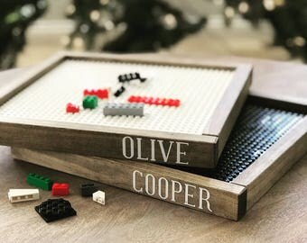 Personalized Lego trays, Lego baseplate, kids gift, kids decor, kids gift