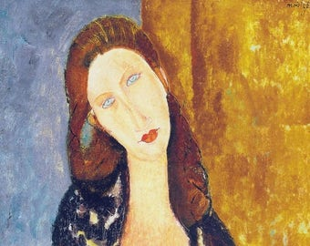 """Placemat Modigliani """"Jeanne Hebuterne seated"""""""