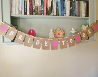 Bridal Shower, Hen Party Bunting Banner, Decoration