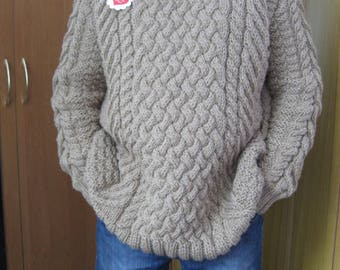 Wool sweater men,pullover winter sweater,Mens Jumpers,sweater hand knit,Knitted Pullover,Mens Luxury Knitwear,Made To Order,Men's Clothing