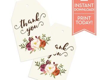 thank you tags tea bag bridal shower favor tags baby shower wedding favor