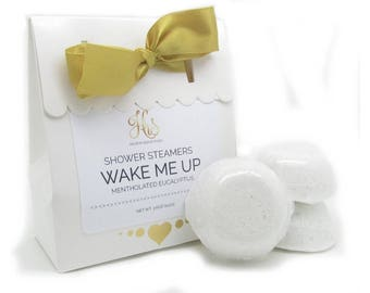 Wake Me Up Shower Steamers - Sinus Relief | Menthol Shower Steamers | Shower Bath Bomb | Shower Fizzy | Shower Fizzies