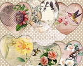 80% off Mothers Day Sale Shabby Chic Hearts Valentine Day Digital Images for Scrapbooking Tags Labels Decoupage Journaling Digital Collage S