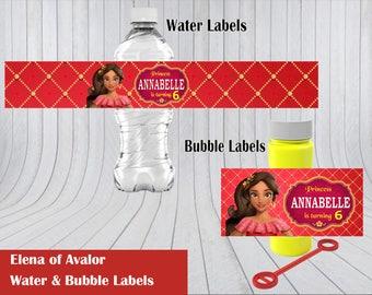 Elena of Avalor Water & Bubble Label
