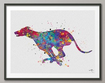 Greyhound Watercolor Print, Greyhound Painting, Greyhound Running, Greyhound Print, Greyhound Gift, Greyhound Poster, Dog Art, Dog Print-905