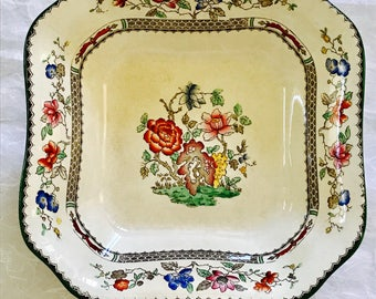"Spode ""Chinese Rose"" Square Bowl  Rd No 629599"