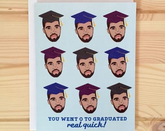 Drake Graduation Card - Drake 0 to 100 card, Drake Congratulations Card, Champagne Papi Card, OVO hip hop card