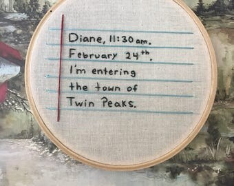 SALE! - Twin Peaks Embroidery