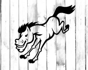 Bucking Bronco - Di Cut Decal - Yeti/Tumbler/Car/Truck/Home/Laptop/Computer/Phone Decal