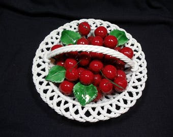 Vintage Bassano Italian Ceramic Bowl of Cherries Life's just a bowl of Cherries