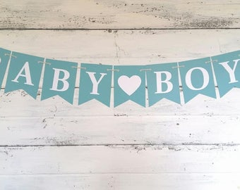 BOY BABY SHOWER Banners - It's A Boy Banner - Baby Boy Banner - Little Man Banner - Welcome Baby Banner - Baby Shower Decor